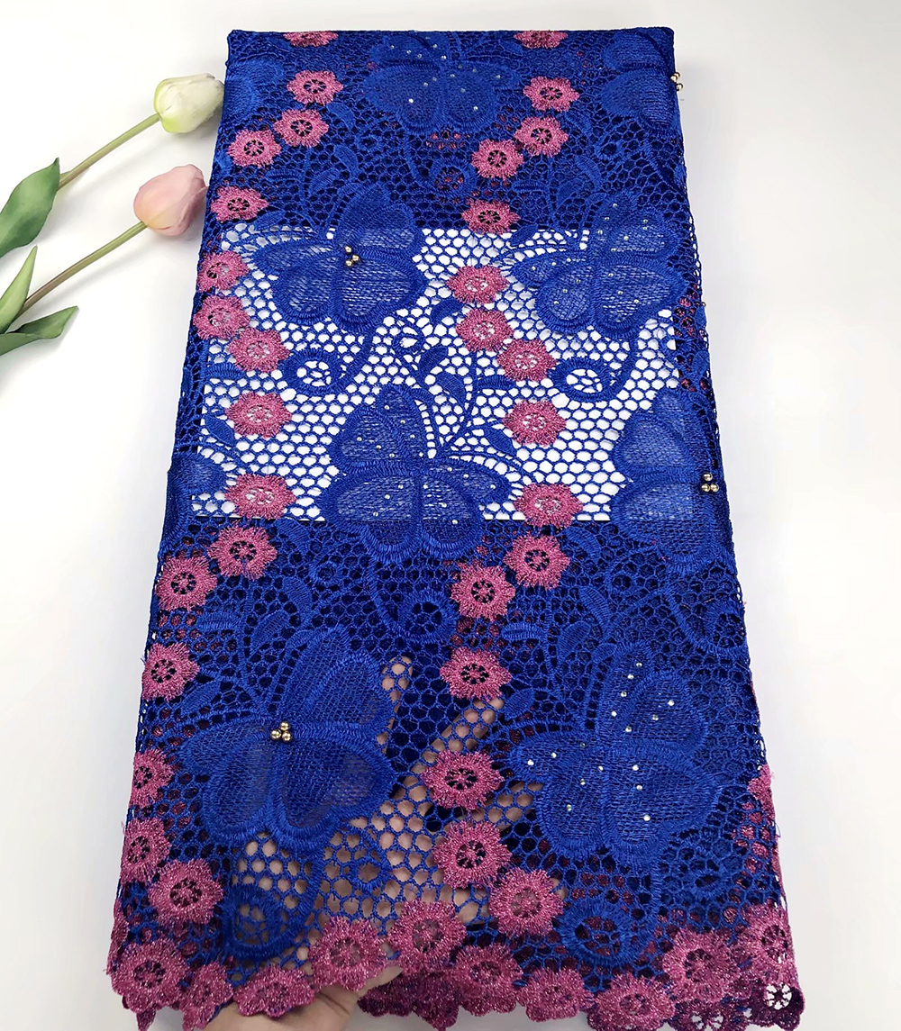 Newest Royal blue High End Embroidery African Lace Fabrics Heavy Swiss Cord Lace Fabric With Stones For Women dressNewest Royal blue High End Embroidery African Lace Fabrics Heavy Swiss Cord Lace Fabric With Stones For Women dress