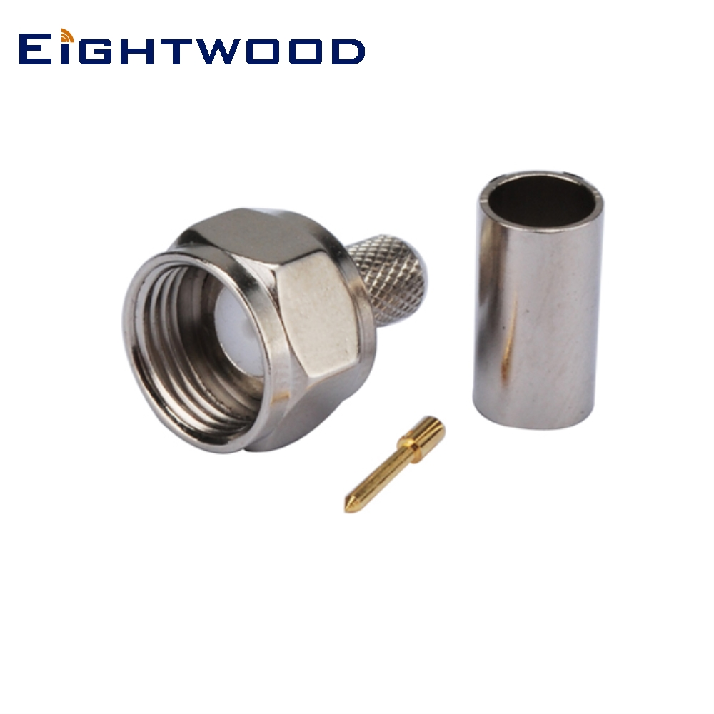 Eightwood F Male Plug Coaxial Connector Crimp RG58, RG400