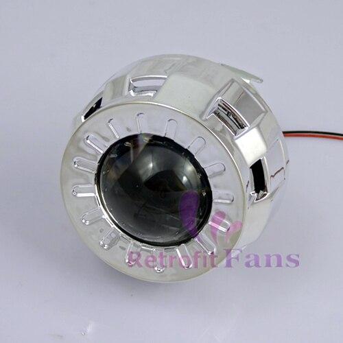 1 8 inches smallest micro hid bi xenon headlight projector for Smallest micro projector