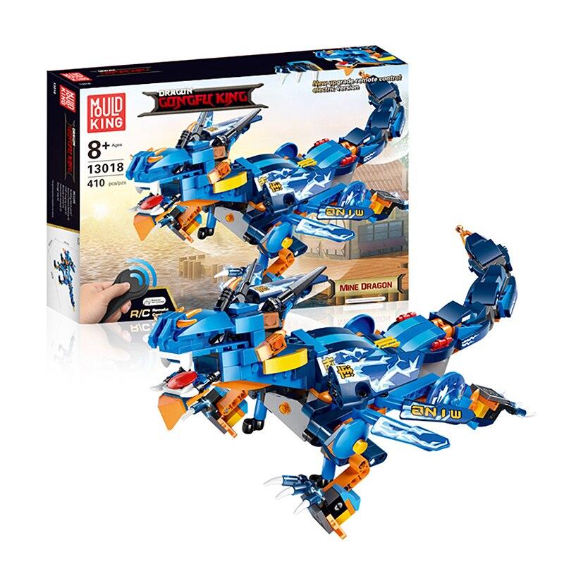 Dinosaure de contrôle à distance pour enfants bricolage blocs de construction éducatifs assemblés cadeau de jouet - 3