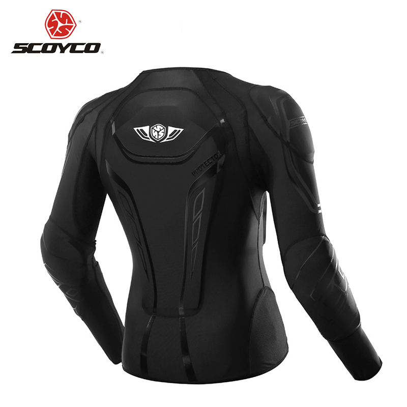 Image 2 - SCOYCO Motorcycle Jacket Protective Gear Motocross Protection Moto Jacket Motorcycle Armor Racing Body Armor Black Moto Armor-in Jackets from Automobiles & Motorcycles