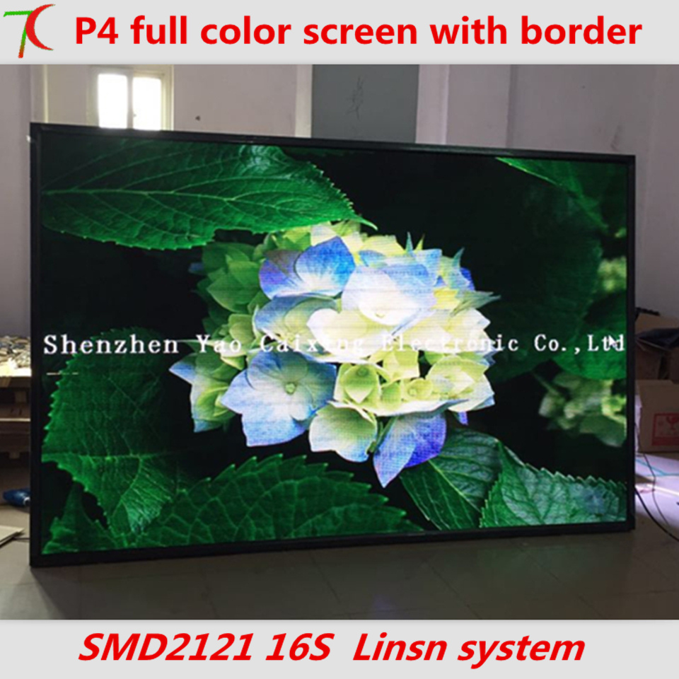 Good price 2017 P4 indoor SMD full color frame board led screen plug and play,1RGB,62500 ...