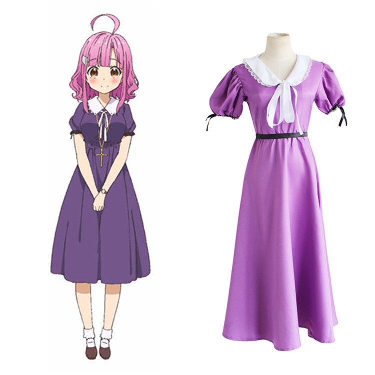 Anime Gakkou Gurashi! Sakura Megumi Party Fashion Dress Uniform Suit Hallowmas cosplay costume S-XL Free Shipping