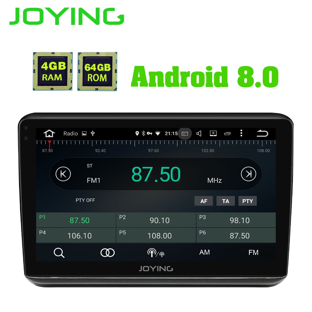JOYING 10 1 inch IPS screen 4GB RAM 64GB ROM Octa Core android 8 0 car