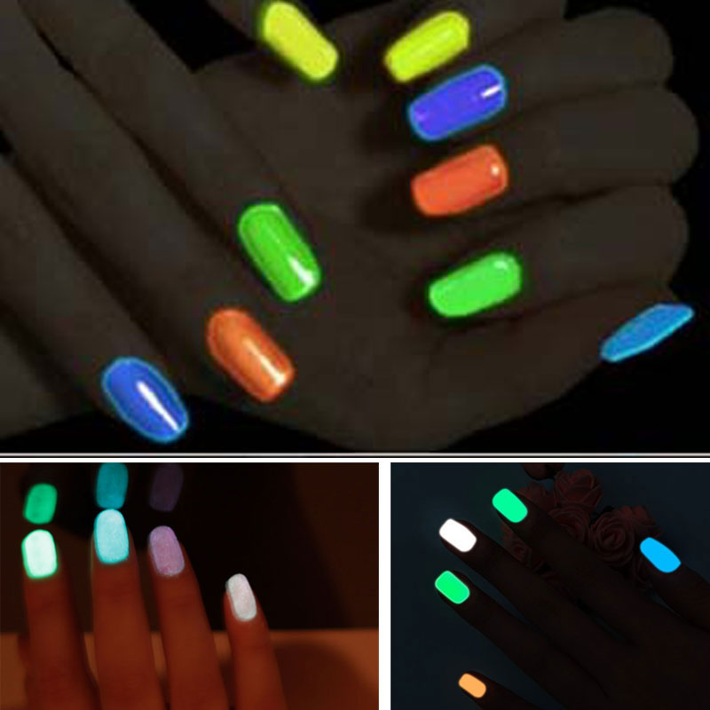 Saviland 1pcs 18 Candy Color Neon Fluorescent Luminous Gel Nail ...