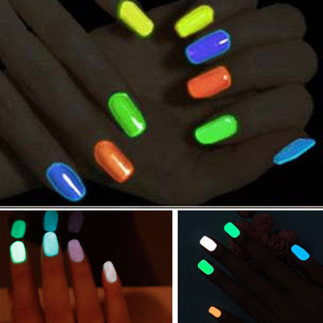Saviland 1pcs 18 Candy Color Neon Fluorescent Luminous Gel Nail Polish For Glow In Dark Varnish Art Design