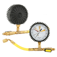 1pcs Car Air Conditioning Refrigeration Test Nitrogen pressure gauge Simple Refrigerant Table for R134A, R22, R410A