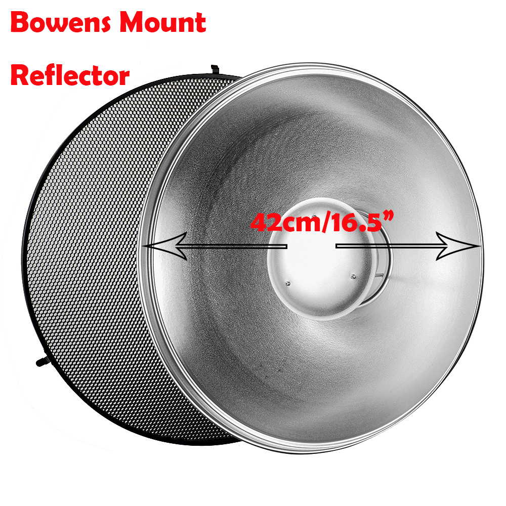 Godox Beauty Dish Reflector BDR-S with 420mm and Silver Bounce Honey Comb C-01 included for GODOX QT600IIM/QT400IIM ultimate bdr 4537b r silver alu