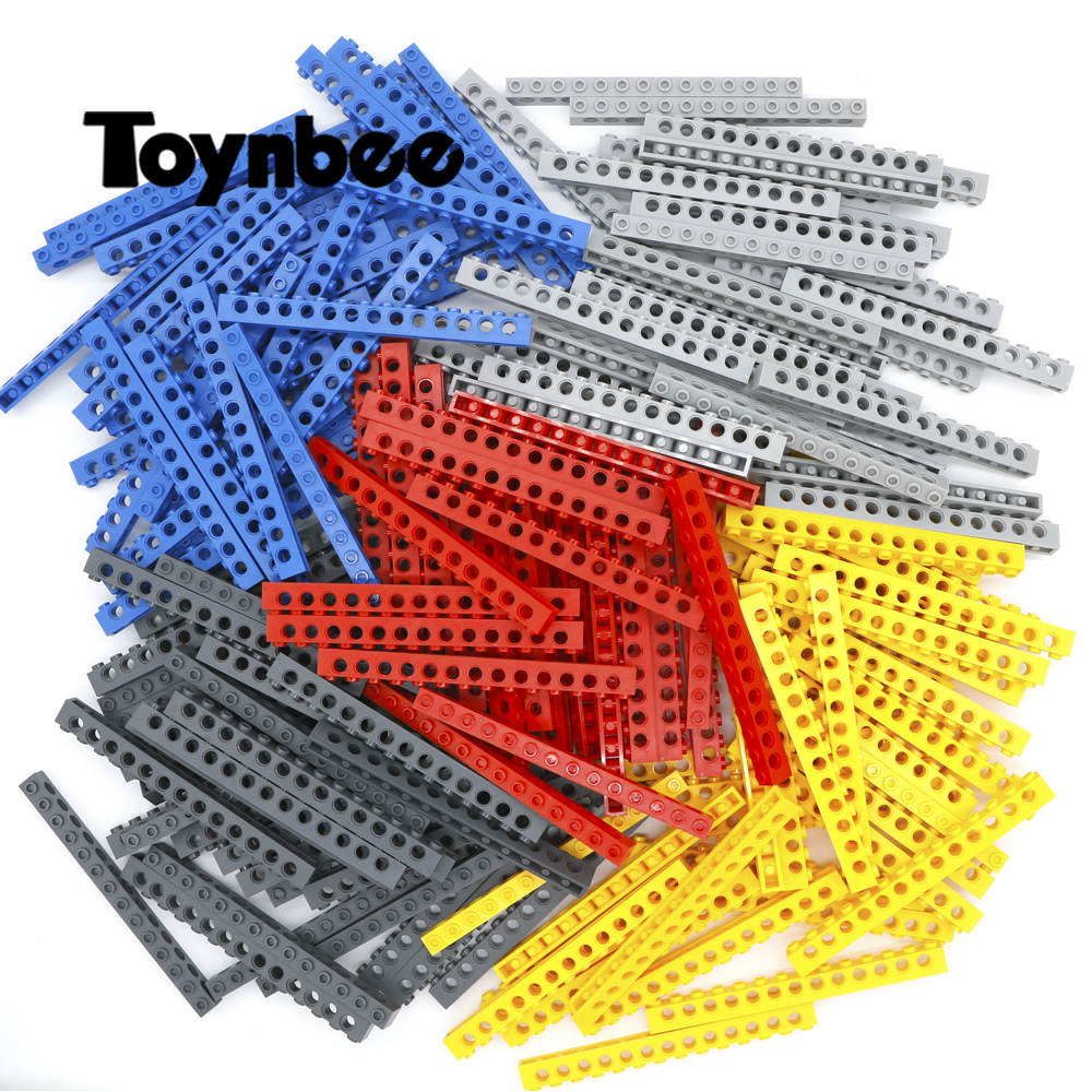Piezas técnicas de ladrillos gruesas 1x14 bloques de construcción 13 Pin Hole MOC Long Beam partes accesorios juguete Compatible LegoINGlys Technic Bulk