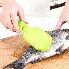 1 шт. скребок для рыбы быстро удаляет чешуйки для рыбы, строгая чешуя для рыбьей кожи, Овощечистка, практичный кухонный инструмент, выскабливание рыбьей чешуи
