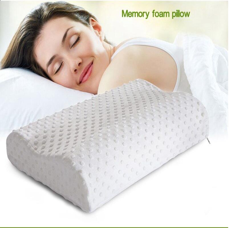 Orthopedic Neck Pillow Fiber Slow Rebound Memory Foam