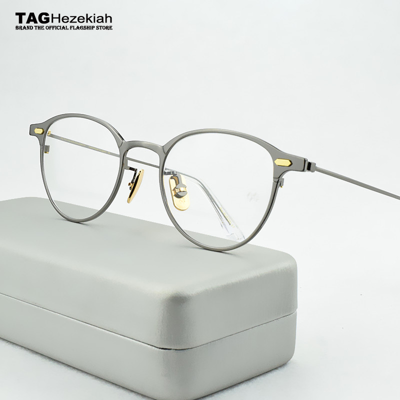 fashion titanium glasses frame men women Retro myopia computer Brand eyeglasses frames Ultralight spectacle frames 47