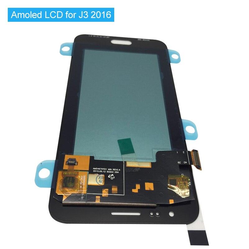 Amoled LCD Screen Für Samsung J3 2016 J320 Voll Lcd Display J320M J320PJ320Y J320F Touchscreen Digitizer Montage Getestet + werkzeuge