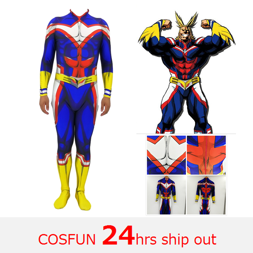 Female All Might Cosplay Costume My Hero Academia Boku no Hero Academia 3D Print Lycra Ladys Zentai Bodysuit Girls/Women Suit