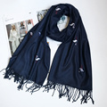 2016 Women Cashmere Scarf Flamingos Shawl Pure Color Tassels Warm Winter Soft Scarves Brand NEW [2126]