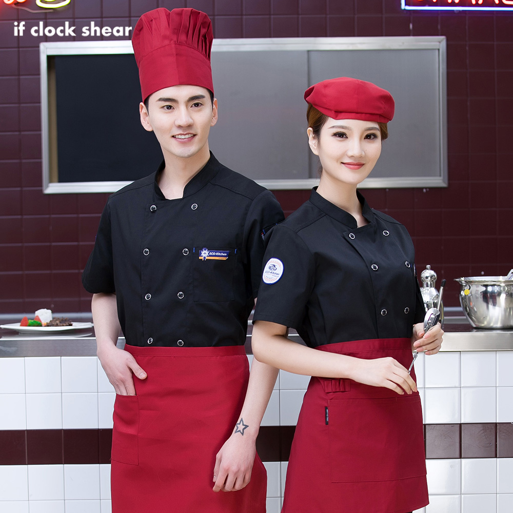 3 Colors Double Breasted Cotton Chef Jackets Chef Uniforms Restaurant Hotel Catering Bakery Waitress Shirts Men And Women M-4XL