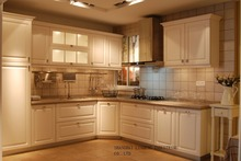 PVC/vinyl kitchen cabinet(LH-PV029) solid wood kitchen cabinet lh sw095