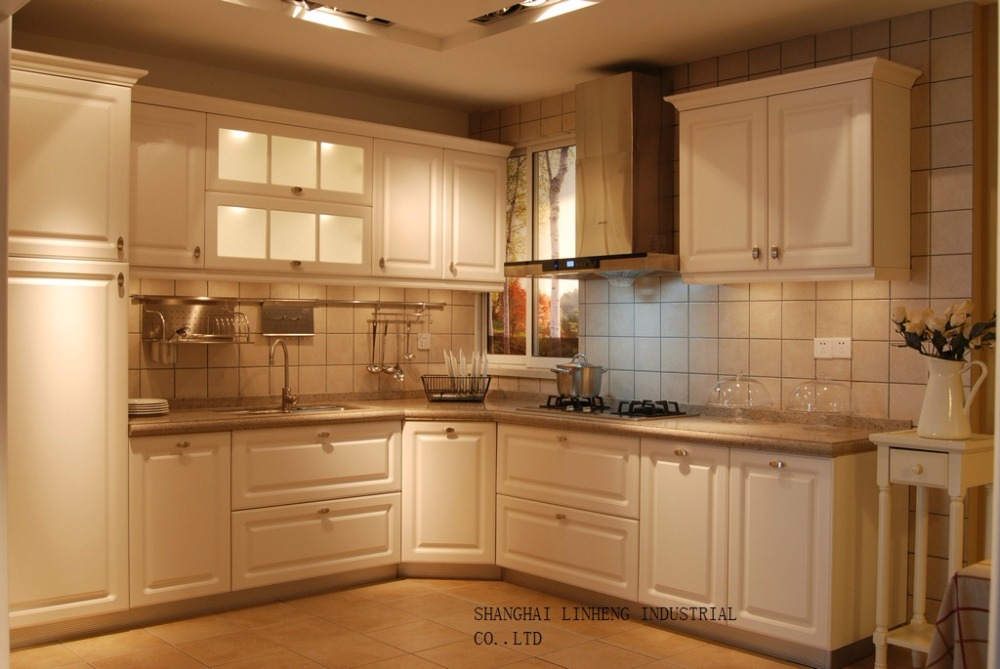 PVC/vinyl kitchen cabinet(LH PV029)-in Kitchen Cabinets ...