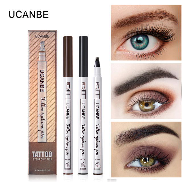 Music Flower Makeup Fine Sketch Liquid Eyebrow Pencil Waterproof Microblading Tattoo Super Durable Smudge-proof Eye Brow Pen