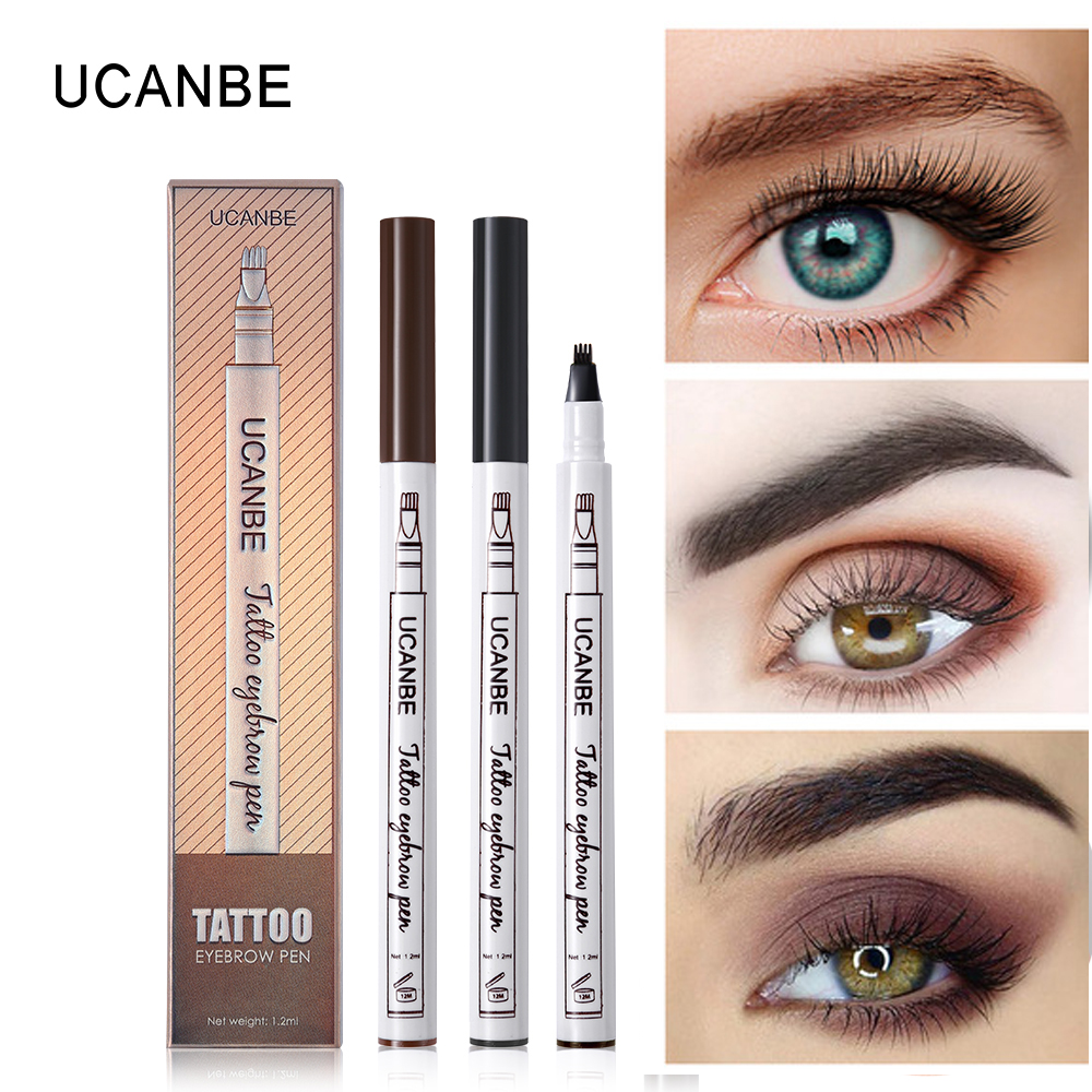 Musik Blume Make-Up Feine Skizze Flüssigkeit Augenbraue Bleistift Wasserdichte <font><b>Microblading</b></font> Tattoo Super Durable wischfest Eye Brow <font><b>Pen</b></font> image