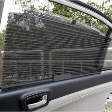 Araba kamyon oto geri çekilebilir yan pencere perde güneş koruyucu kör güneşlik