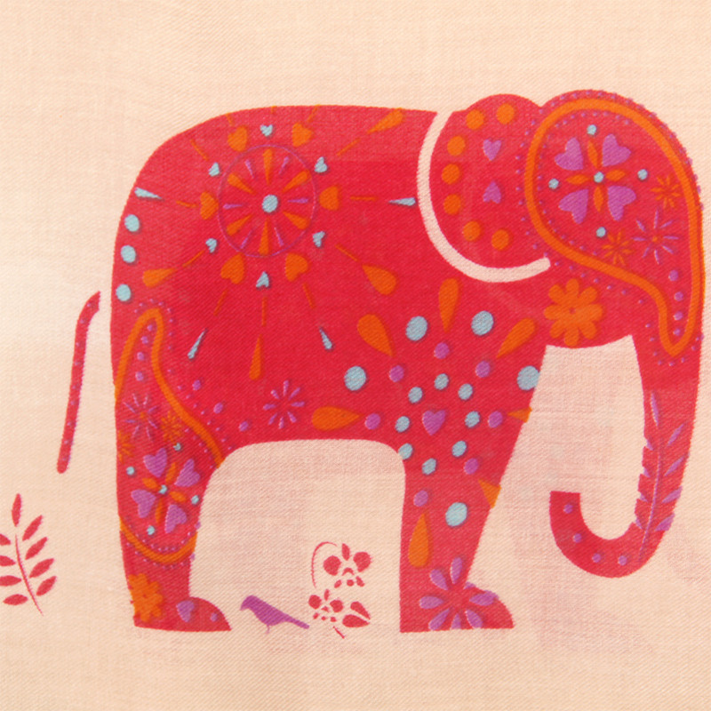 Cute Elephant Cotton Scarf | Shawls and Wraps | Up to 60% Off Now