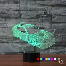 Classic Racing Car 3D Nightlight 7 Color Changing Atmosphere Lamp For Boy  Car Fan Bedroom Decor Touch Desk Table Lampara De Mesa