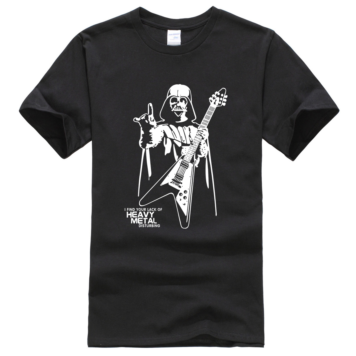 T-shirts summer Darth Vader short sleeve mens T-shirt Heavy Metal funny pattern brand-clothing crossfit t shirt men tops tees