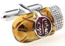 Free shipping Cufflinks  gold color Cuban cigar design copper material men cufflinks whoelsale&retail