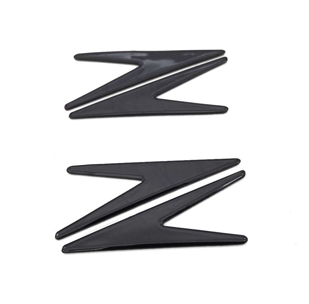 2pcs Motorcycle Decal Stickers Z Shape 3D Scooter Tank Emblem Badge For Kawasaki Z125 Z250 Z300 Z650 Z750 Z800 Z900 Z1000