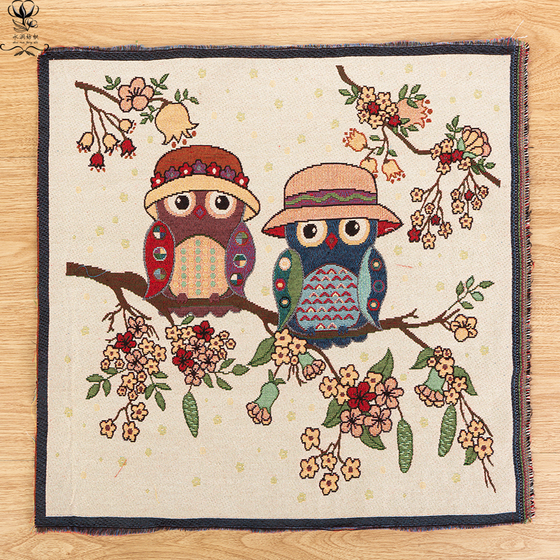 Cartoon Owl Printed linen Cotton Fabric Table cloth for Diy Sewing Patterns Crafts Fabri ...