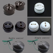 Retro Type Flat Mounted Toggle Switch Socket Old Style Inverted Switch Socket Bedside On off Table