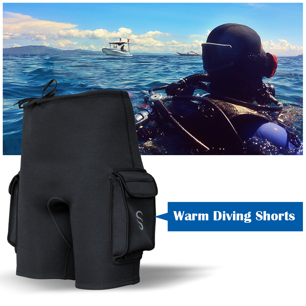 Mens Wetsuits Pants Shorts 1.8mm Neoprene Canoeing Swimming Pants Trousers