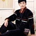 Осень и зима мужской фланелевые пижамы утолщение ватки комплект Большой размер мужской норки бархатным гостиной