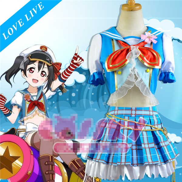 Anime Love Live Navy Sailor Suits Uniform Awaken Nico Yazawa Cosplay Costume Free Shipping D система для комфортных путешествий крепление для samsung galaxy tab 3 4 10 1 000061125d для volkswagen tiguan 2017