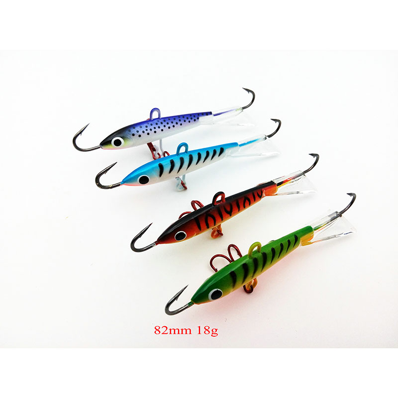 4pcs Lot Fishing Lure Winter Ice Fishing Hard Bait Minnow