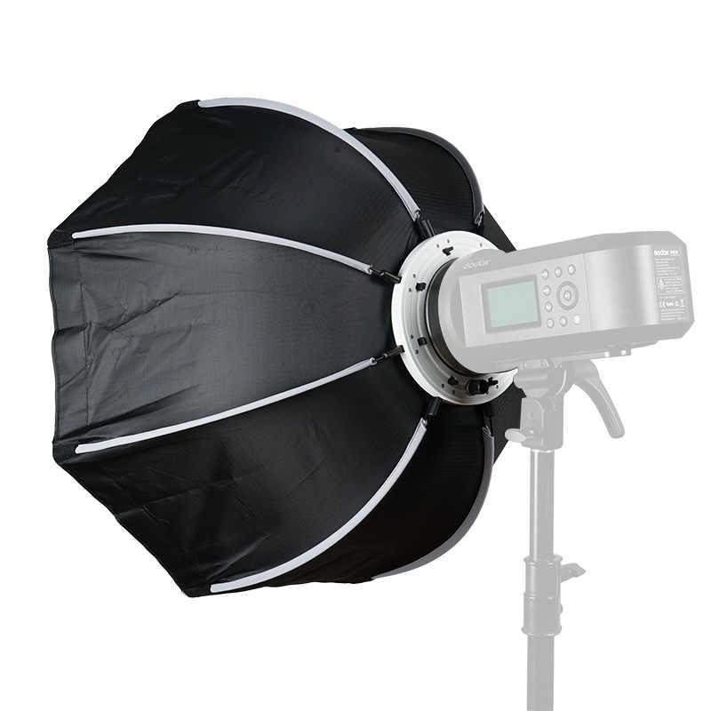 TRIOPO 65 centímetros Octagon Softbox Difusor Refletor w/Bowens Monte Caixa De Luz para Estúdio de fotografia Luz de Flash Strobe acessórios