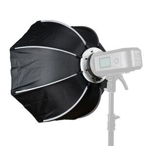 Image 2 - Triopo 120 Cm Octagon Softbox Diffuser Reflector W/Bowens Mount Lichtbak Voor Fotografie Studio Strobe Flash Light Accessoires