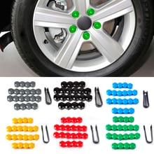 DWCX 20pcs Wheel Lug Nut Center Cover Caps 321601173A + Removal Tool 8D0012244A Fit for VW Golf Passat Audi A4 A6 Q7