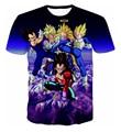 Nuevo Llega Claasic Dragon Ball Z Super Saiyan/Personajes Vegeta 3D T-shirt de Moda de Verano de Hip Hop de Los Hombres/Muchacho DBZ Tee Shirts Tops