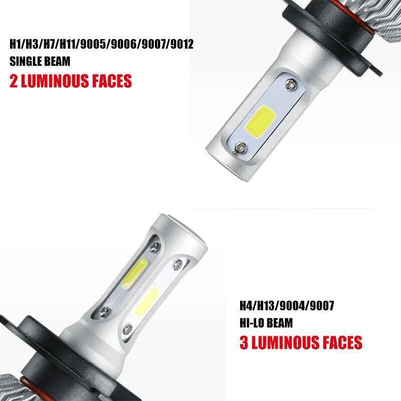 Oslamp S2 H4 H7 H13 H11 H1 9005 9006 H3 9004 9007 9012 COB LED Headlight 72W 8000LM Car LED Headlights Bulb Led 4300K 6500K 12V