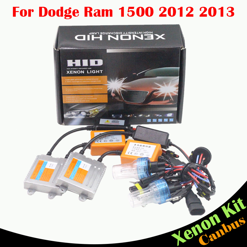 ФОТО Cawanerl 55W No Error Ballast Bulb AC HID Xenon Kit 3000 4300K 6000K 8000K  Car Headlight Low Beam For Dodge Ram 1500 2012 2013