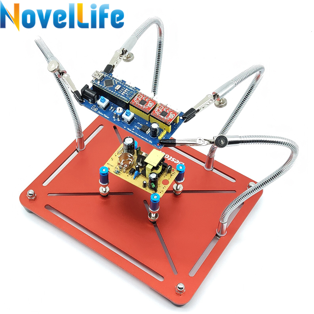 2 in 1 Helping Hands Soldering Aid Tool Third Pana Hand Movable PCB Board Holder 4