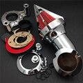 Gratis piezas de la motocicleta del mercado de accesorios 2008-2012 Harley Dyna Road King Electra Glide FLHX CHROME Cono Aire Spike Limpiador