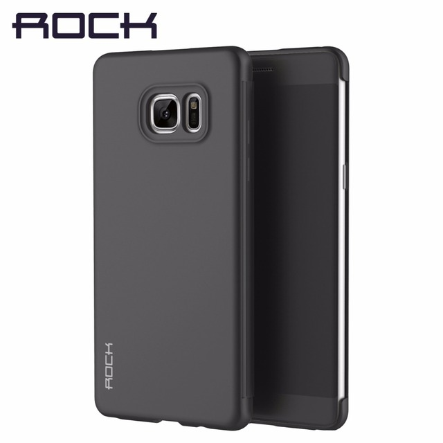brand new 6a266 94c76 US $15.74 |ROCK Dr.v Series case for Samsung Galaxy Note 7 Luxury flip case  for Note7 Phone cover Slide to answer call-in Flip Cases from Cellphones &  ...