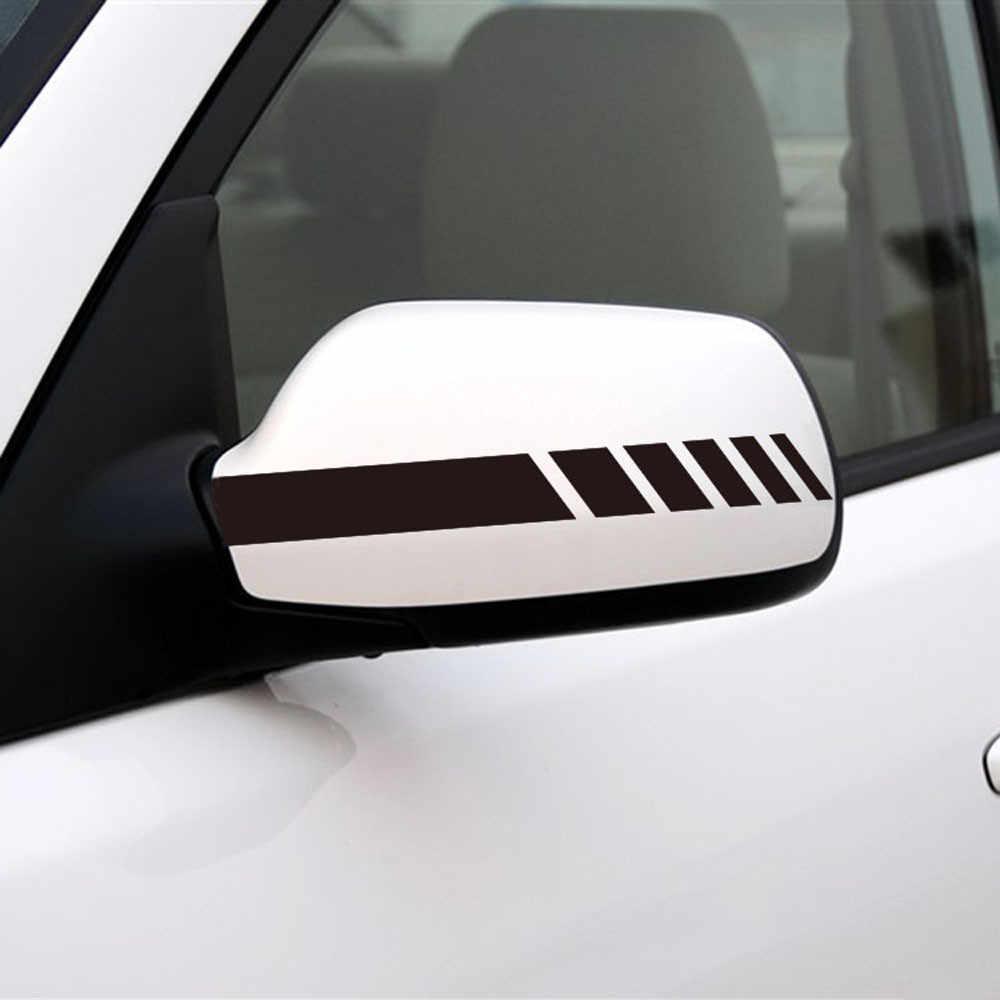 Pegatinas y calcomanías reflectantes para coche de 2 piezas, decoración de espejos retrovisores de coche, Exterior Multicolor, fácil de instalar