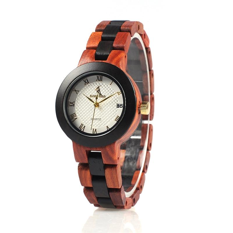 BOBO KUŞ İki tonlu Timepieces Ahşap İzle Kadınlar için Marka - Kadın Saatler - Fotoğraf 3