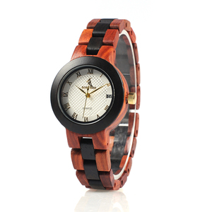 Image 5 - BOBO BIRD Two tone Wooden Watches Women Top Luxury Brand Lady Timepieces Quartz Wrist Watches in Wood Gift Box Dropshipping OEM