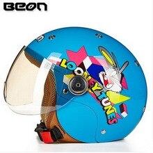2017, Лето, Новый B-103ETK дети мотоцикл велосипед шлемы BEON шлем ребенка мальчики девочки половина шлем четыре сезона