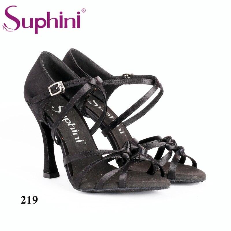 Free Shipping Suphini Woman Latin Salsa Dance Shoes Knot Latin Dance Shoes free shipping 2015 suphini purple latin shoes satin salsa shoe woman dance shoes zapatos de baile